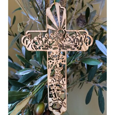 Last Supper Cross Ornament LZO103