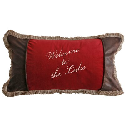 Sagamore Lake Plake Lumbar Pillow