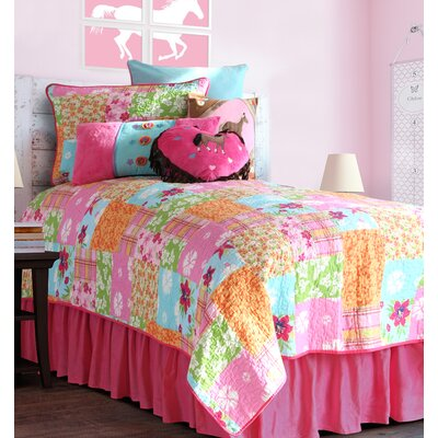 Cowgirl Quilt Bed Skirt Size: Twin