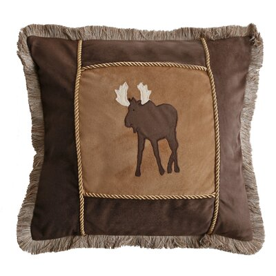 Moose Plaid Throw Pillow