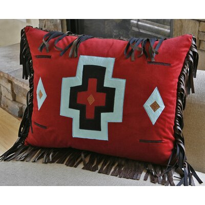 Turquoise Chamarro Cross Pillow Color: Red