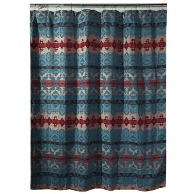 Turquoise Chamarrow Shower Curtain