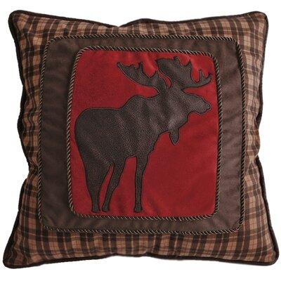 Lance Moose Plaid Throw Pillow