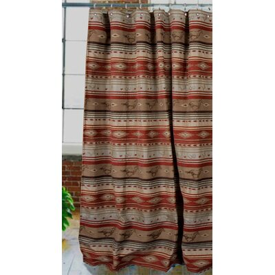 Flying Horse Rodeo Western Shower Curtain