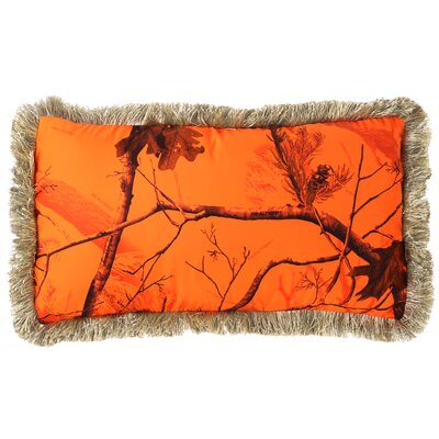 Realtree AP Blaze Fringe Throw Pillow