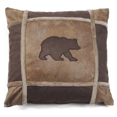 Latour Bear Grid Rustic Throw Pillow