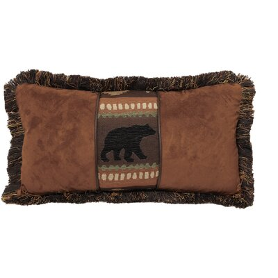 LaSalle Bear and Chestnut Rustic Lumbar Pillow
