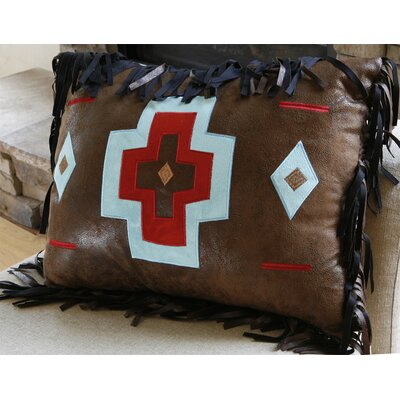 Turquoise Chamarro Cross Pillow Color: Brown