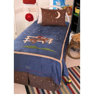 Cowboy 4 Piece Full Reversible Bed in Bag Set