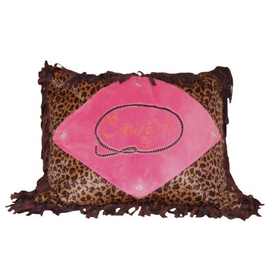 Ivana Cowgirl Leopard Throw Lumbar Pillow