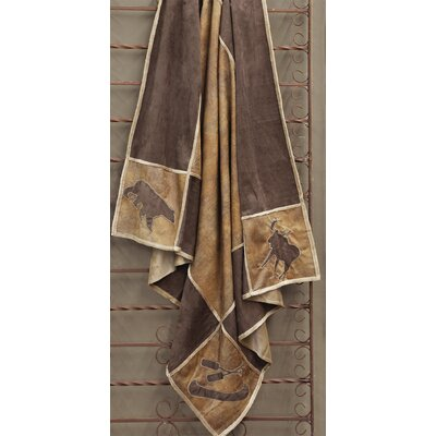 Longvillers Rustic Lodge Grid Throw