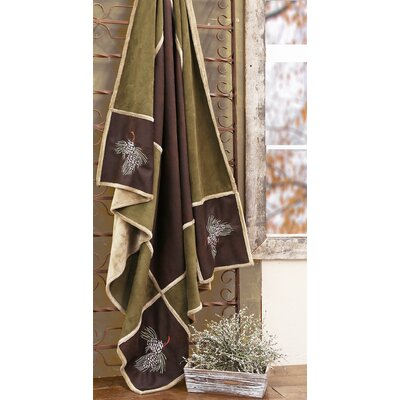 Lorient Pine Cone Grid Throw