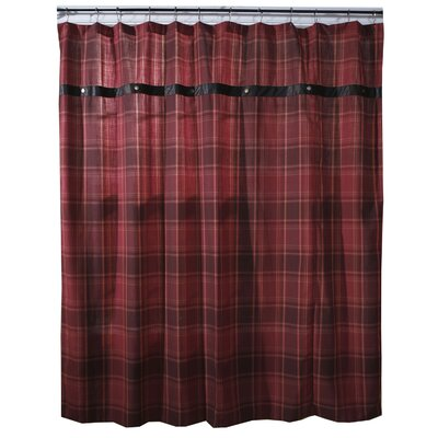 Sagamore Lake Plaid Shower Curtain