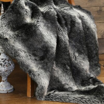 Grand Teton Plaid Faux Fur Throw