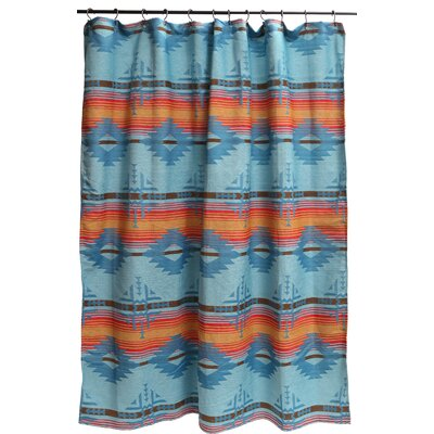 Ilene Shower Curtain Color: Turquoise; Gold; Red; Brown