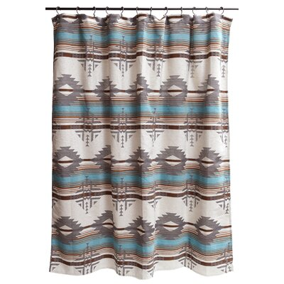 Red Branch Southwest Shower Curtain Color: Grey; Turquoise; Brown JB6547