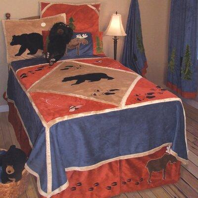 Lodge 4 Piece Twin Reversible Quilt Set