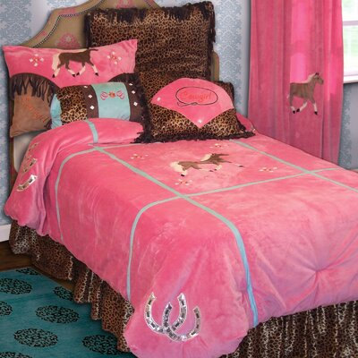 Cowgirl Leopard 4 Piece Full Comforter Set