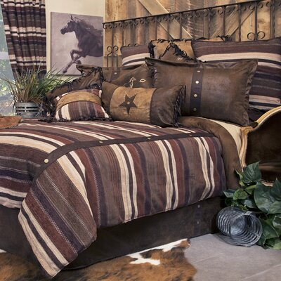 Old West Stripe Reversible Comforter Set Size: King