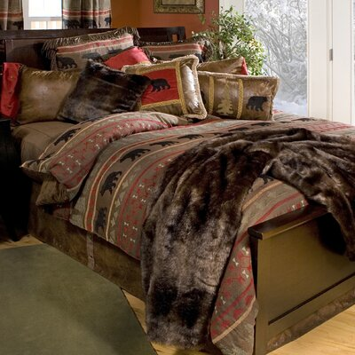 Bear Country Reversible Comforter Set Size: Twin