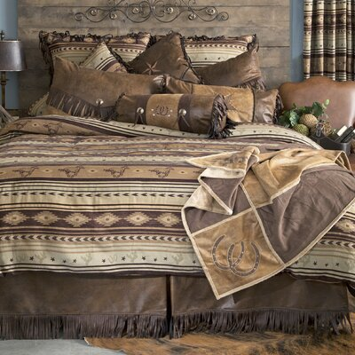 Brown Mustang Reversible Comforter Set Size: King