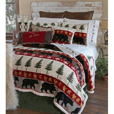 Tall Pine 5 Piece Comforter Set Size: Queen