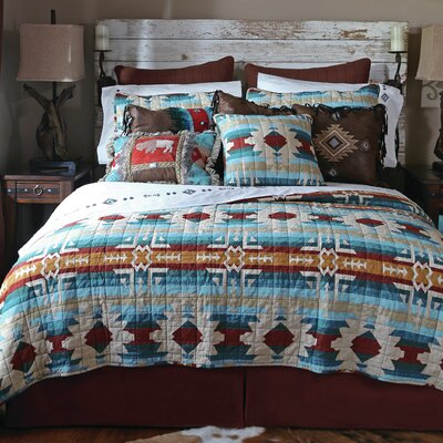 Southwest Harvest 5 Piece Quilt Set Size: Queen