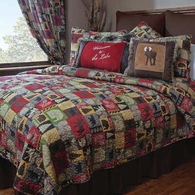 Cabin in the Woods 5 Piece Quilt Set Size: King