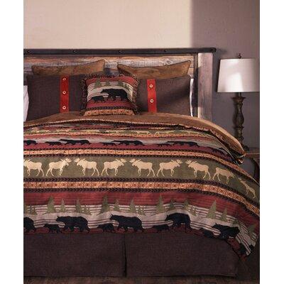 Ontario Wilderness 5 Piece Comforter Set Size: Queen