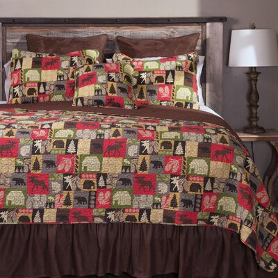 Cabin in the Woods 5 Piece Quilt Set Size: Queen