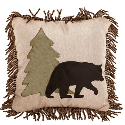 Ledonne Bear and Tree Rustic Throw Pillow