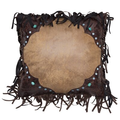 Lehoux Western Faux Leather Throw Pillow