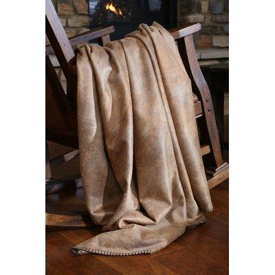 Katerina Tobacco Faux Leather Throw