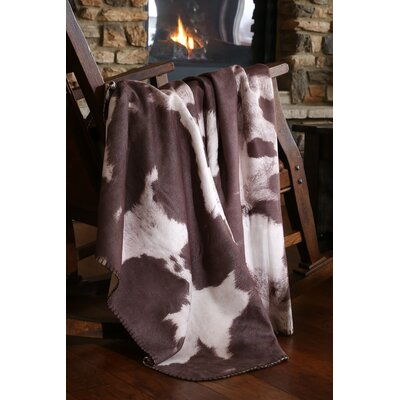 Larocque Chocolate Cowhide Faux Leather Throw