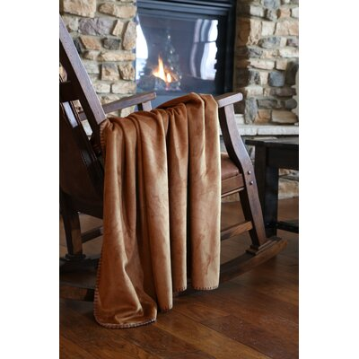 Symone Chestnut Soft Suede Throw