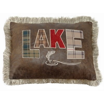 Laurent Lake with Fish Lumbar Pillow