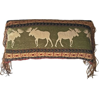 Lisle Wilderness Moose Rustic Lumbar Pillow