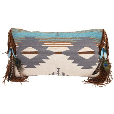 Leroux Badlands Fringe Feather Southwest Lumbar Pillow