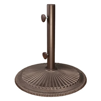 Cast Iron Free Standing Umbrella Base Finish: Bronze