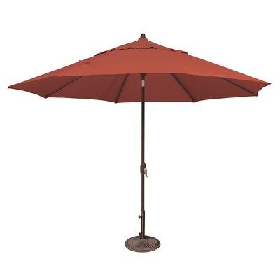 11 Lanai Market Umbrella Fabric: Sunbrella / Henna