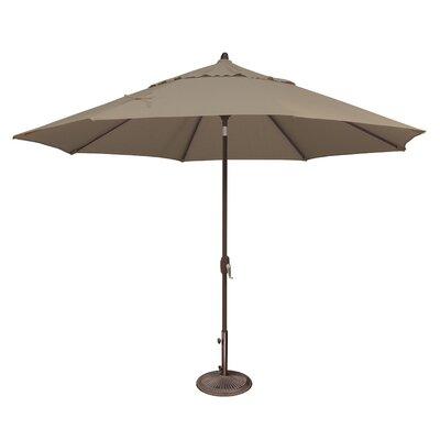 11 Lanai Market Umbrella Fabric: Sunbrella / Cocoa