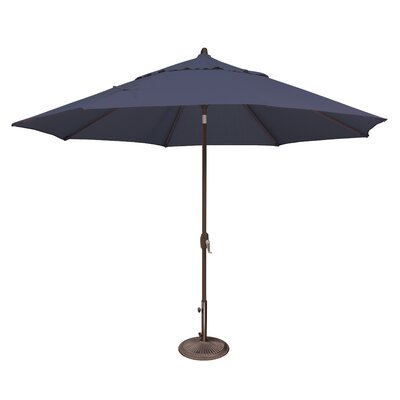 11 Lanai Market Umbrella Fabric: Sunbrella / Navy