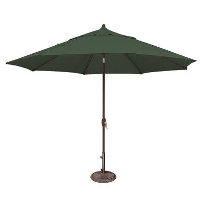11 Lanai Market Umbrella Fabric: Sunbrella / Forest Green