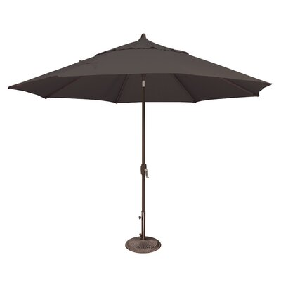 11 Lanai Market Umbrella Fabric: Sunbrella / Black