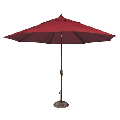 11 Lanai Market Umbrella Fabric: Solefin / Really Red