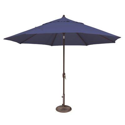 11 Lanai Market Umbrella Fabric: Solefin / Sky Blue