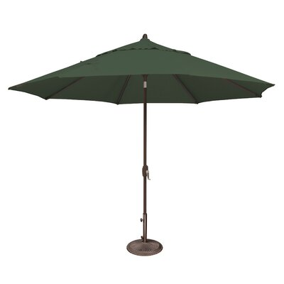 11 Lanai Market Umbrella Fabric: Solefin / Forest Green
