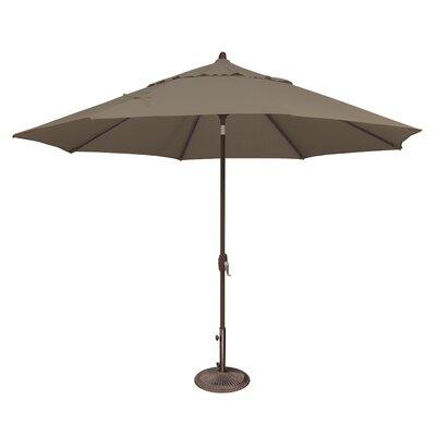 11 Lanai Market Umbrella Fabric: Solefin / Taupe