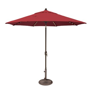 9 Lanai Illuminated Umbrella Fabric: Sunbrella / Jockey Red