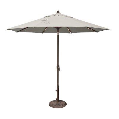 Simplyshade 9 Ft. Lanai Pro Octagon Market Umbrella With Star Light Natural SSUM81SL-0900-A5404